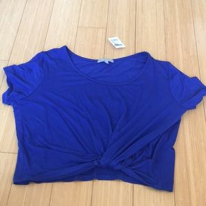Charlotte Russe Blue Knot Crop Top